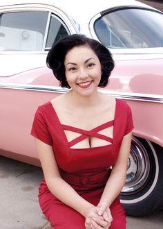 The Velma Dress in Red $100.00 #HeartofHaute #pinup #retro #rockabilly #classic #madeintheusa #mandibee #50s #reddress