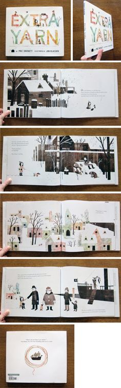 Extra Yarn illustrated by Jon Klassen. - definitely on the wish list, absolutely gorgeous art - so glad I discovered Mr. Klassen!