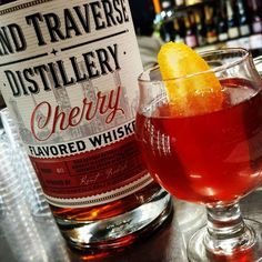Our Mixmaster friend Jack Ford-Teich at Salut Tasting Room crafted a stunning riff on the classic Boulevardier featuring our Cherry Whiskey. Cherry Whiskey, Alcoholic Drinks, Cocktails, Cocoa Nibs, Tasting Room, Distillery, Decanter, 1 Cup, Carafe