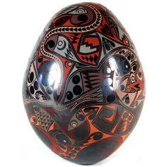 Eli Navarrete: Dazzling Egg Shaped Olla   Sandia Folk