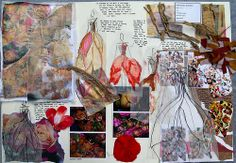 Fashion sketchbook anya jane magee a level sketchbook, gcse art sketchbook A Level Textiles Sketchbook, Sketchbook Layout, Gcse Art Sketchbook, Fashion Design Sketchbook, Sketchbook Inspiration, Sketchbook Ideas, Fashion Books, Fashion Art, Fashion Collage