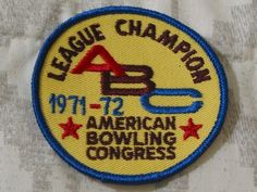 A Junkee Shoppe Junk Market Stop: ABC BOWLING PATCH League Champion 1971 1972 Season ... For Sale Click Link Here To View >>>> http://ajunkeeshoppe.blogspot.com/2016/01/abc-bowling-patch-league-champion-1971_12.html