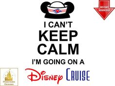 Disney Cruise Keep Calm and Cruise On Family Vacation by Pennyring