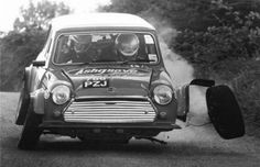 I had this happen to me too in a mini. The front wheel fell off when the studs sheared. I wasn't jumping the car. It was just built like crap. Audi, Bmw, Porsche, Vintage Racing, Vintage Cars, Antique Cars, Classic Mini, Classic Cars, Rallye Automobile