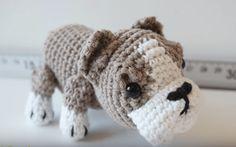 Patrón gratis amigurumi de perro bulldog de Canal Crochet