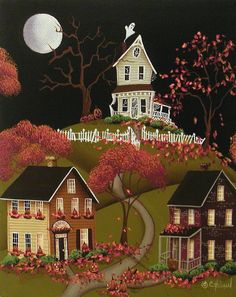 House on Haunted Hill Painting | Catherine Holman