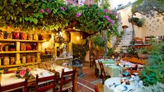 Avli Lounge Apartments: Surrounded by bougainvillea and lemon trees, the courtyard restaurant serves top local fare.