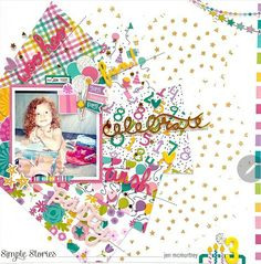 Party Layout, Image Layout, Simple Stories, Wow Products, Craft Party, Pattern Paper, Happy Day, Craft Projects, Birthdays