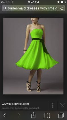 Lime green dresses im not boring im bright and full of color