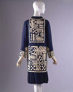 Mariska Karasz, silk dress, c. 1927