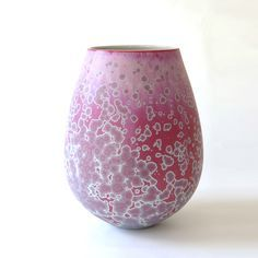 Porcelain with matte crystalline glaze by Ted Secombe