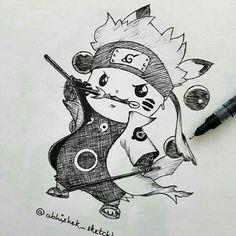 """a lapiz de pokemonDibujos a lapiz de pokemon Devil's Bat's: Gaara ''Naruto"""" Desenhe seus Personagens Favoritos Método FanArt Aprenda em Casa tudo Passo a Passo(Clique no link acima)⤴⤴ New Z Fighter. Pokémon Sage Mode by antzartgraphic ~ ⚡ Pikachu Drawing, Pokemon Sketch, Naruto Sketch, Pikachu Art, Naruto Drawings, Naruto Art, Anime Sketch, Manga Drawing, Pokemon Tattoo"""