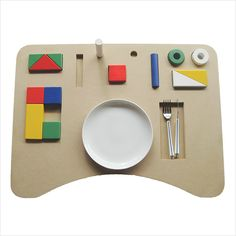 Stricly necessary - a  multi-purpose tray  with which children can play while eating