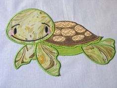 Baby Turtle Applique Embroidery by KCDezigns on Etsy, $3.00