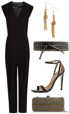 black overall, fashion, look