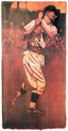 Paul Waner, OF Pittsburgh Pirates. Painting by Bernie Fuchs, 1979.