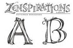 Joanne Fink: Zenspirations Patterned Monograms