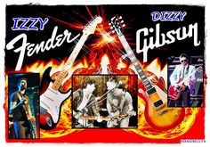 Dizzy vs Izzy , Gibson vs Fender !!