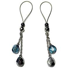 Nipple Jewelry Noose Rings Czech Glass Blue Silver H#nipplerings #nipples #nipplenoose #bodivas