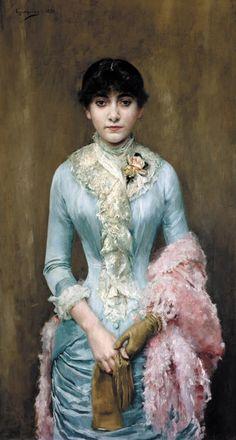 1881 Rogelio de Egusquiza Barrena - Portrait of Carmen Gaminde de Hurtado
