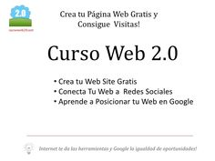 Curso Web 2.0, aprende a diseñar tus páginas web y consigue visitas