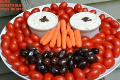 Creating an edible Elmo vegetable tray!   #ad #DipYourWay