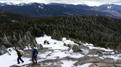 Heading down the icy summit of Cascade Mountain Lake Placid Adirondacks NY #hiking #camping #outdoors #nature #travel #backpacking #adventure #marmot #outdoor #mountains #photography