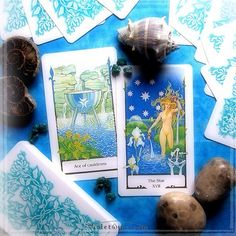 Ace of Cauldrons and The Star from Tarot of the Old Path.  / Photo © www.VioletAura.com