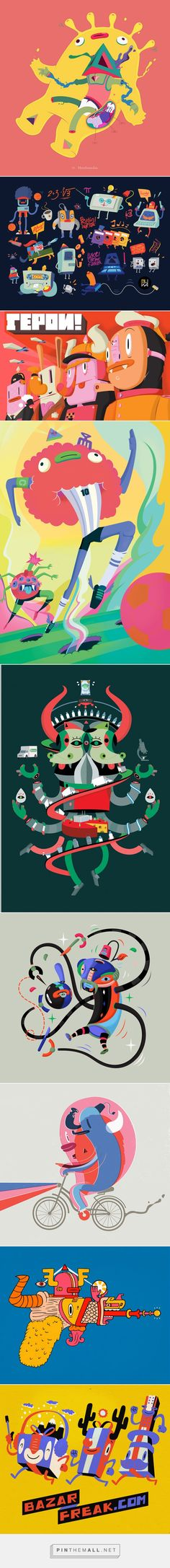 Sound Creatures and other illustrations on Behance... - a grouped images picture - Pin Them All