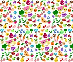 cluttered fruits fabric by berrysprite on Spoonflower - custom fabric