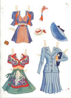 Lana Turner Paper Dolls, 1942 Whitman of Drag Clothing, Paper Dolls Clothing, Doll Clothes, Clothes Crafts, Paper Toys, Paper Crafts, Paper Paper, Paper Dolls Printable, Lana Turner