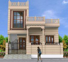 House Elevation, Front Elevation, House Front Design, Door Design, Le Riad, Steel Gate Design, Indian House Plans, Architectural House Plans, House Map