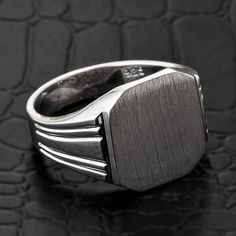 Signet ring silver signet ring sterling silver by CaliRoseJewelry