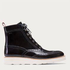 COLLIMAN - NERO/GRIGIO CALF Boots