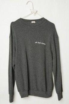 Erica Uh Huh Honey Embroidery Sweatshirt Uh Huh, Fashion Shoes, Fashion  Accessories, Fashion 418b01a3d1