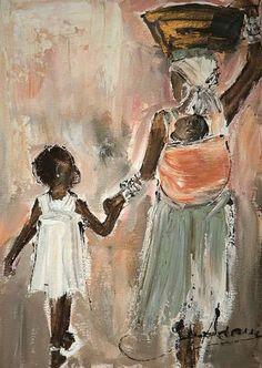 African Drawings, African Artwork, African Art Paintings, Black Art Painting, Cuban Art, Art Africain, Africa Art, African American Art, Art For Art Sake