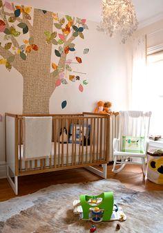 quarto de bebê árvore