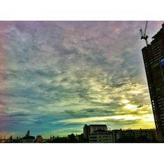 #sunset #sky #cloud #thaistagram #instacanv #instacanvas #instamood #webstargram #lovestagram - @nok77- #webstagram