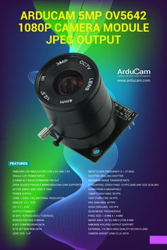 Arducam Camera Module with CS mount Lens - Camera Breakout Boards - Iot Projects, Arduino Projects, Electronics Projects, High Resolution Camera, Rolling Shutter, Cheap Computers, Camera Lens, Montage