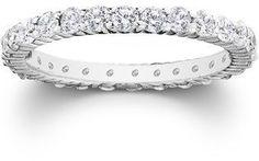 Pompeii3 1ct Prong Diamond Eternity Ring 950 Palladium. #DiamondEternityRings