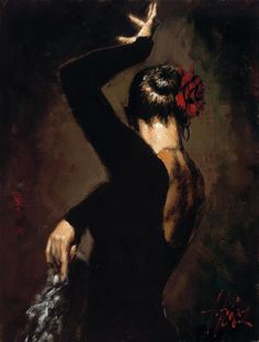 Flamenco Dancer Terciopelo negro II painting is shipped worldwide,including stretched canvas and framed art.This Flamenco Dancer Terciopelo negro II painting is available at custom size. Fabian Perez, Local Art Galleries, Spanish Dancer, Spanish Art, Dance Paintings, Painting Art, Dance Art, Art Photography, Art Gallery