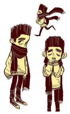 I got the Art of Paranorman book & one of the concept art Normans had this rad look I just had to doodle it. Also it's really cold these...