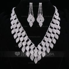 [US$ 20.99] Moda Aleación/Diamantes de imitación De mujer/Señoras' Sistemas de la joyería