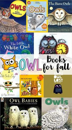 BOOK TITLES-- Lists for teachers of favorite children's books for fall. Includes fiction and non-fiction books about pumpkins, leaves, spiders, bats, and owls. Autumn Activities, Book Activities, Child Love, Your Child, Owl Books, Owl Classroom, Classroom Ideas, Fallen Book, Nocturnal Animals