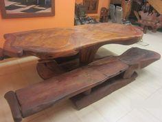 Panca e tavolo intarsio Condor