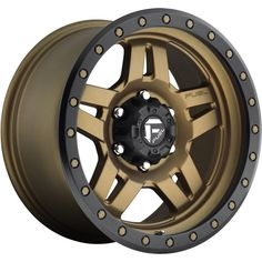 Fuel Anza Bronze Wheel / Rim with a Offset and a 108 Hub Bore. Fuel Rims, 20 Rims, Rims And Tires, Wheels And Tires, Off Road Wheels, 5th Wheels, Bronze Wheels, Fierce, Xtreme