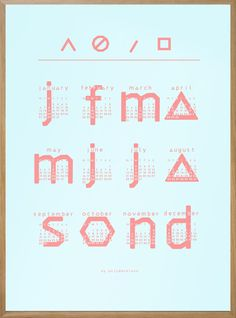 My 2014 Typographic Printable Calendar in 10 new Colors