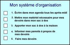 Systeme d'organisation pour ados