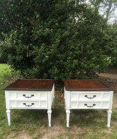 Farmhouse style end tables makeover