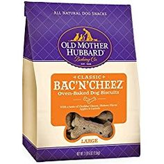 Old Mother Hubbard Crunchy Classic Snacks for Dogs, Small P-Nuttier, Bag Natural oven-baked dog biscuits Made with all natural-wholesome ingredients For dogs of all ages and sizes No artificial preservatives Large Dogs, Small Dogs, Old Mother Hubbard, Dog Diet, Natural Dog Treats, Wild Bird Food, Dog Bones, Dog Biscuits, Dog Snacks